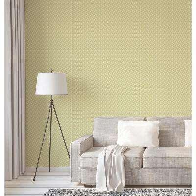 56.4 sq. ft. Stockholm Lime Geometric Wallpaper