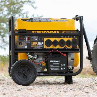 10000/8000-Watt 120/240V 30/50A Remote Start Gas  Portable Generator cETL Certified With Cover