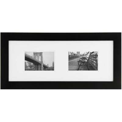 2-Opening 6 in. x 4 in. Matted Picture Frame