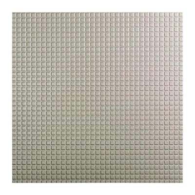 Square - 2 ft. x 2 ft. Lay-in Ceiling Tile in Argent Silver