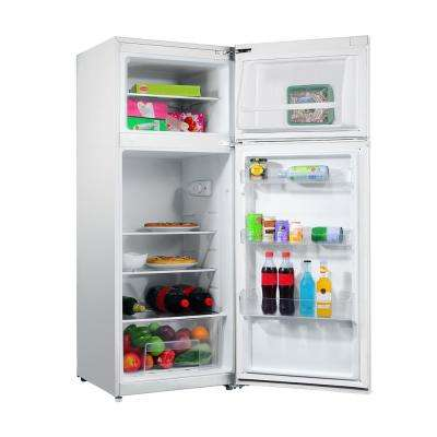 7.6 cu. ft. Top Freezer Refrigerator with Dual Door in White