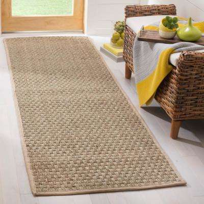 Natural Fiber Tan/Beige 3 ft. x 10 ft. Runner Rug