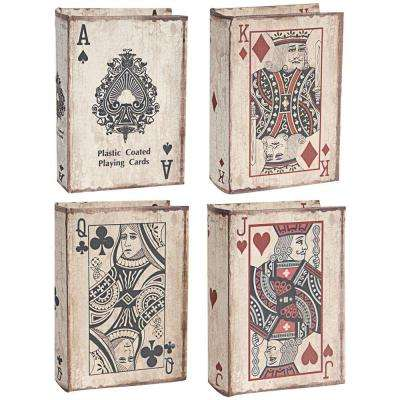 5.5 in. x 2 in. Decorative Book Boxes (4-Pack)