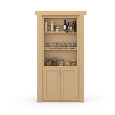 30 in. x 80 in. Flush Mount Assembled Forward Pantry Door Paint Grade Unfinished Right-Hand Outswing