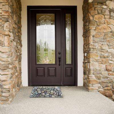 Stone Grey 18 in. x 30 in. Door Mat