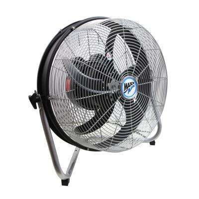 18 in. 3-Speed Floor Fan with Internal Oscillation