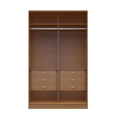 Chelsea 1.0 - 54.33 in. W Maple Cream He/ She Wardrobe with 6-Drawers