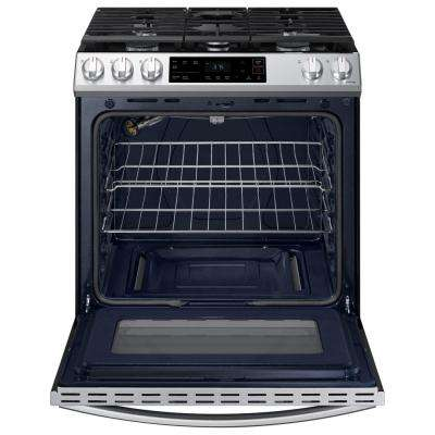 30 in. 6.0 cu. ft. Slide-In Gas Range with Self-Cleaning Oven in Stainless Steel