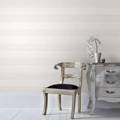 Cream Calico Stripe Wallpaper