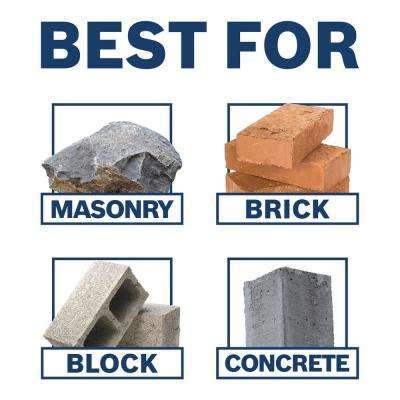 3/8 in. x 4 in. x 6 in. Blue Granite Turbo Carbide Hammer Drill Bit for Concrete, Stone and Masonry Drilling