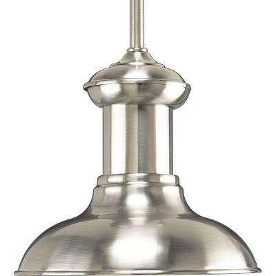 Brookside Collection 1-Light Brushed Nickel LED Mini Pendant