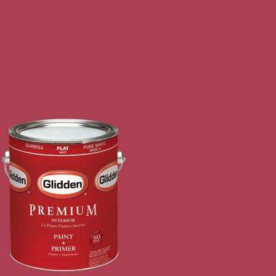 1-gal. #HDGR27 Cherries Jubilee Flat Latex Interior Paint with Primer