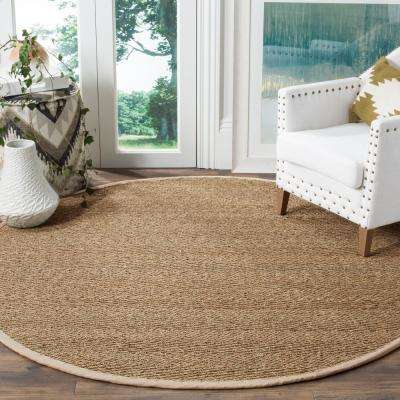 Natural Fiber Tan/Ivory 6 ft. x 6 ft. Round Area Rug