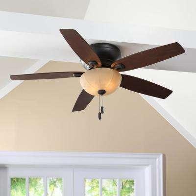 Durant 54 in. Indoor Maiden Bronze Ceiling Fan with Light