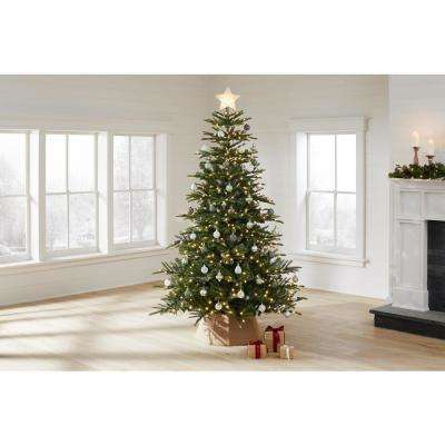 7.5 ft. Colorado Green Fir Artificial Christmas Tree with 500 Warm White LED Lights