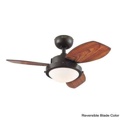 Wengue 30 in. Indoor Espresso Ceiling Fan