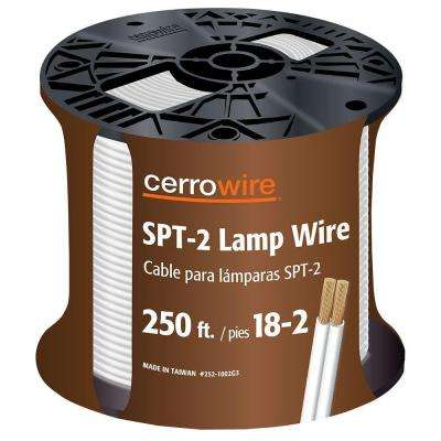 250 ft. 18/2 White Stranded Lamp Wire