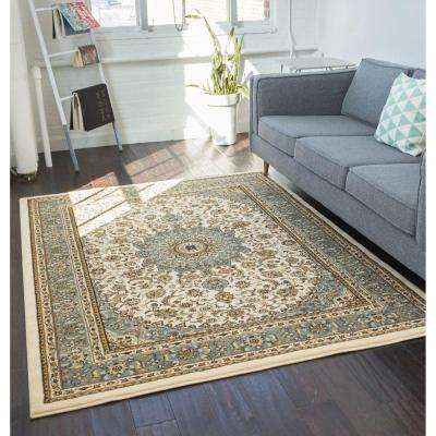 Timeless Aviva Ivory 11 ft. x 15 ft. Traditional Area Rug
