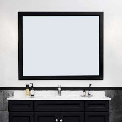 24 in. W x 36 in. H Rectangle Bathroom Framed Wall Mirror in Expresso