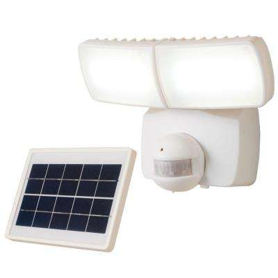180 Degree White Solar Motion Activated LED Twin Head Flood Light