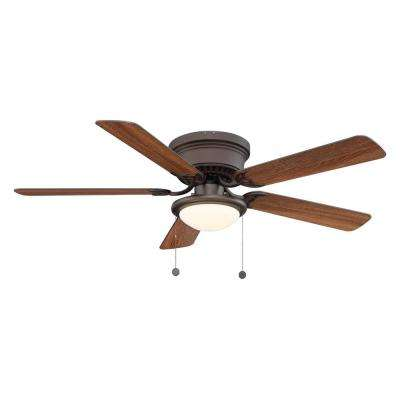 Hugger 52 in. LED Espresso Bronze Ceiling Fan