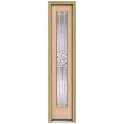 14 in. x 80 in. Authentic Wood Direct Glaze Unfinished Fir Lone Star Zinc Full View Side Lite with Brickmould