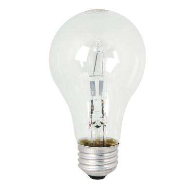 Energy Saving 60W Equivalent halogen A19 Clear Light Bulb (48-Pack)