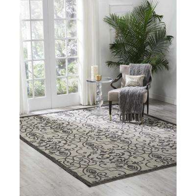 Country Side Ivory/Charcoal 4 ft. x 6 ft. Indoor/Outdoor Area Rug