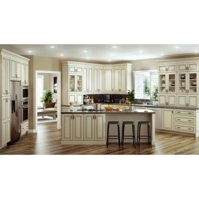 Holden Assembled 24 x 84 x 24 in. Pantry/Utility 2 Double Door & 4 Rollout Trays Utilty Kitchen Cabinet in Bronze Glaze