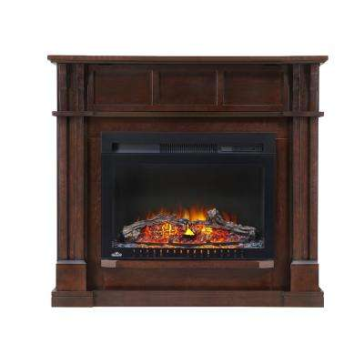 The Bailey 24 in. Corner Mantel Package Electric Fireplace in Espresso