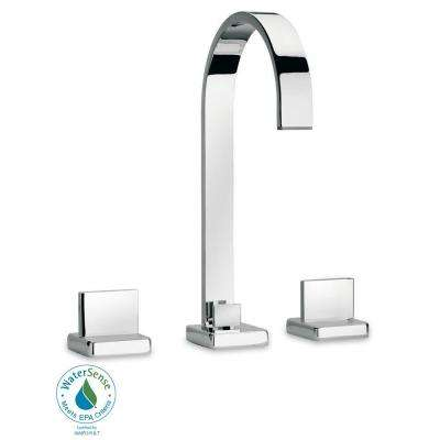 Novello 8 in. Widespread 2-Handle High-Arc Bathroom Faucet in Chrome