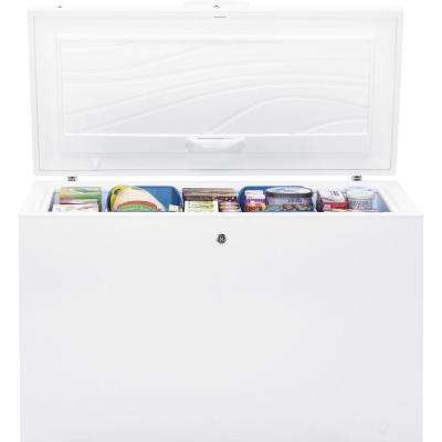 56 in. W 15.6 cu. ft. Manual Defrost Chest Freezer in White