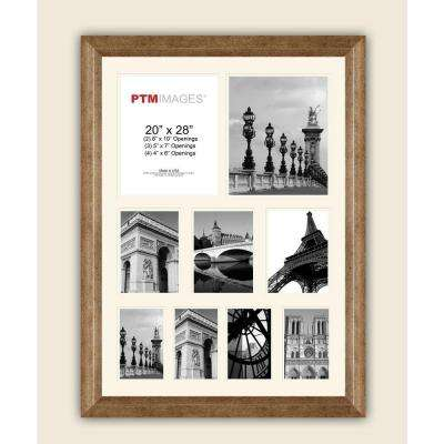9-Opening 23-1/2 in. x 27-1/2 in. Multi-sized White Matted Photo Collage Frame