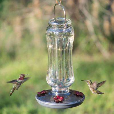 Starglow Decorative Glass Hummingbird Feeder - 16 oz. Capacity