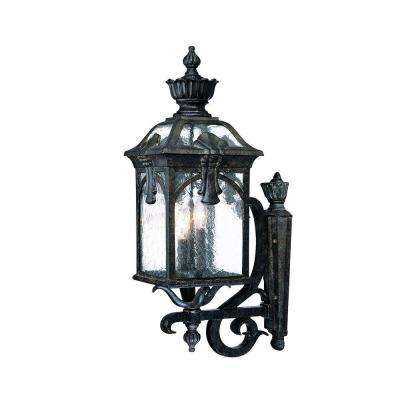 Belmont Collection 3-Light Black Coral Outdoor Wall-Mount Light Fixture