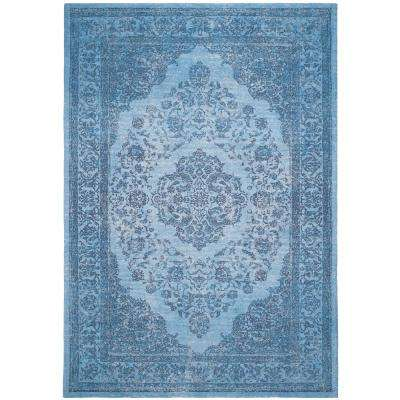 Classic Vintage Blue 8 ft. x 11 ft. Area Rug