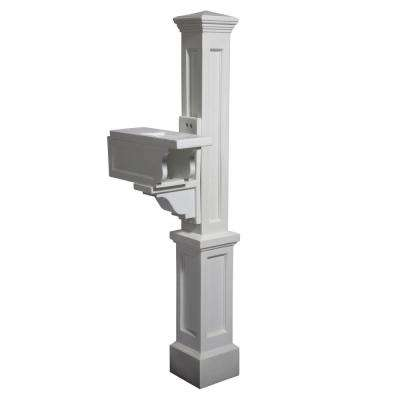 Rockport Single Mailbox Post, White