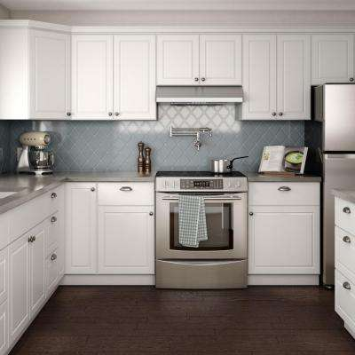Madison Assembled 36x34.5x24 in. Sink Base Cabinet in Warm White