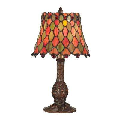 13.5 in. Manti Antique Brass Accent Lamp