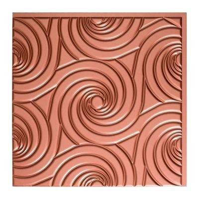 Typhoon - 2 ft. x 2 ft. Glue-up Ceiling Tile in Argent Copper