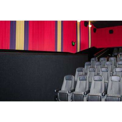 108 sq. ft. Navy Acoustical Noise Control Textile Wall Covering and Home Theater Acoustic Sound Proofing