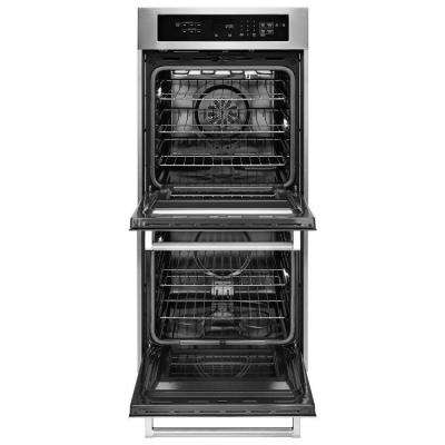 24 in. Double Electric Wall Oven Self-Cleaning with Convection in Black