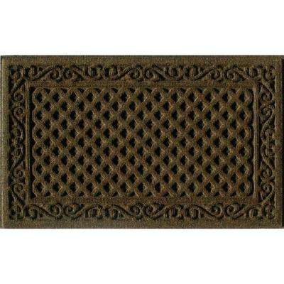 Brown 18 in. x 30 in. Door Mat