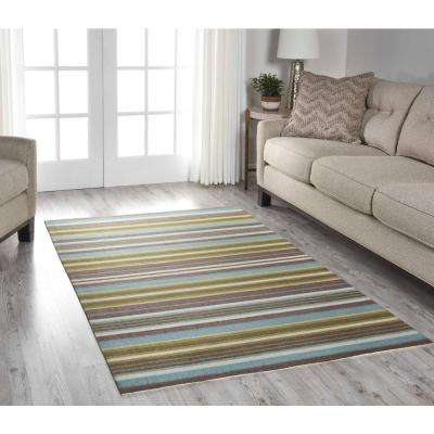 Paddock Shawl Platinum 2 ft. x 6 ft. Indoor/Outdoor Runner Rug