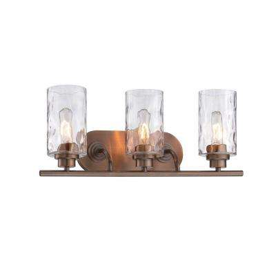 Gramercy Park 3-Light Old Satin Brass Interior Incandescent Bath Vanity Light