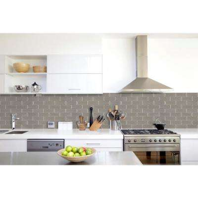 Dove Gray Beveled 12 in. x 12 in. x 10 mm Ceramic Mesh-Mounted Mosaic Wall Tile (10 sq. ft. / case)