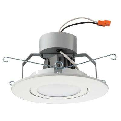 6 in. Matte White Recessed Gimbal LED Module (2700K)