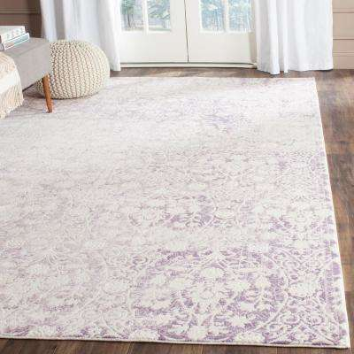 Passion Lavender/Ivory 9 ft. x 12 ft. Area Rug