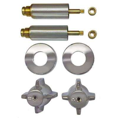 2 Valve Rebuild Kit for Tub and Shower with Chrome Handles for Central Brass