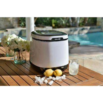 50 lb. Countertop Freestanding Ice Maker in White